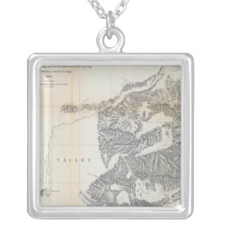 Passes, Sierra Nevada, Walker's Pass Coast Range Silver Plated Necklace