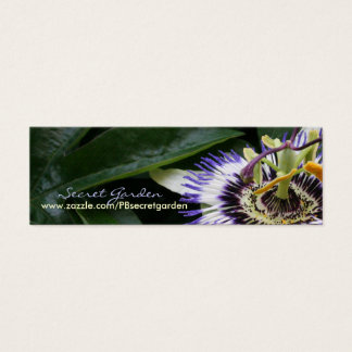 Passiflora 2 Floral Photography Mini Business Card