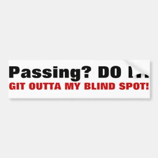 Passing? bumper sticker (trucker version)