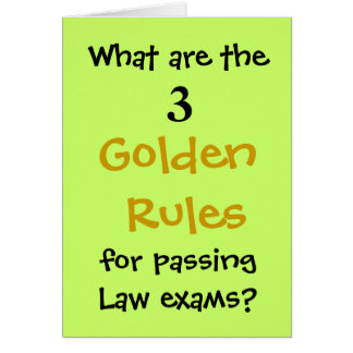 Passing Law Exams - Congratulations Joke Card