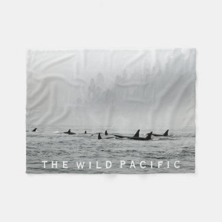 Passing Orcas Fleece Blanket