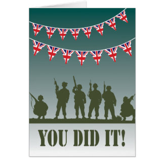 Passing Out Bunting British Army Soldiers Congrats Greeting Card