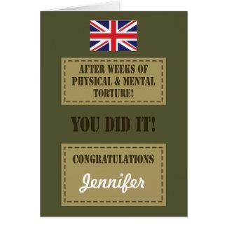 Passing Out Parade, British Army Badge Congrats Greeting Card