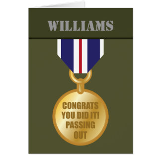 Passing Out Parade, British Army Medal Congrats Greeting Card