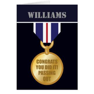 Passing Out Parade, British Naval Medal Congrats Greeting Card