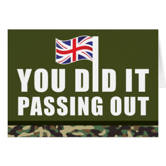 Passing Out Parade Camouflage British Army Greeting Card