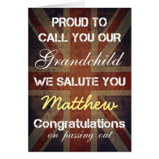 Passing Out Parade Grandchild Salute You Congrats Greeting Card