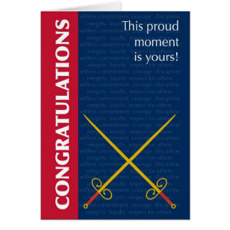 Passing Out Parade Swords and Army Values Greeting Card