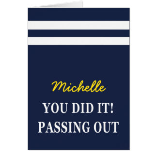 Passing Out Scarf British Navy Congratulations Greeting Card
