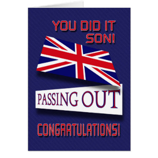 Passing Out, You Did It Son! Congratulations Card
