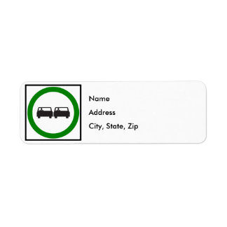 Passing Permitted Highway Sign Label