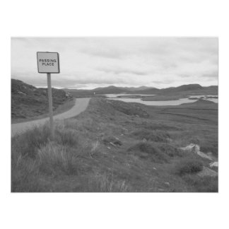 Passing Place, Isle of Lewis. Poster