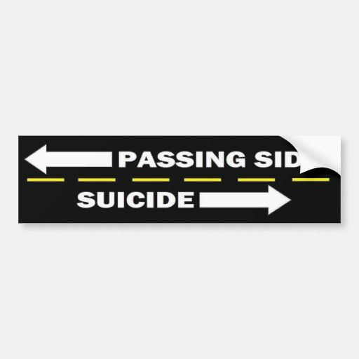 Passing side bumper sticker