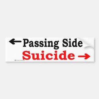 passing side car bumper sticker