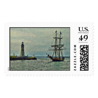 Passing The Lighthouse Postage