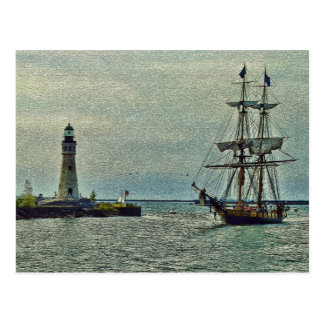 Passing The Lighthouse Postcard