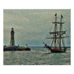 Passing The Lighthouse Poster/Print