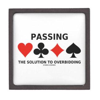 Passing The Solution To Overbidding (Bridge) Keepsake Box