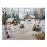 Passing Through Winter Landscape Poster