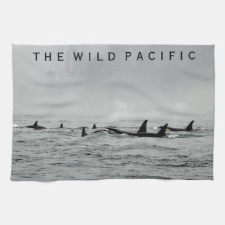 Passing Whales Kitchen Towel