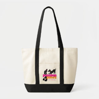 Passion 4 Paws Tote with Logo and Pink Writing Impulse Tote Bag