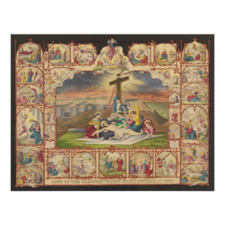 Passion and Life of Our Lord Jesus Christ Collage Poster
