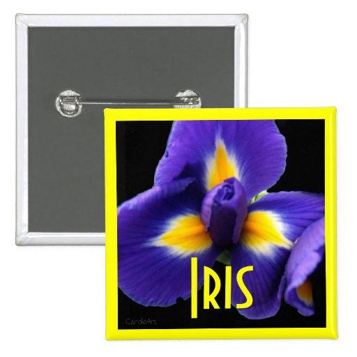 Passion Blue Iris Pinback Button