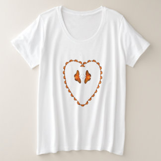 Passion butterflies in heart - Dance with me Plus Size T-Shirt