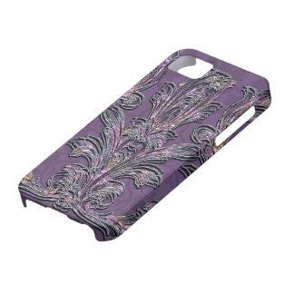 Passion Floral Elegant Damask iPhone SE/5/5s Case