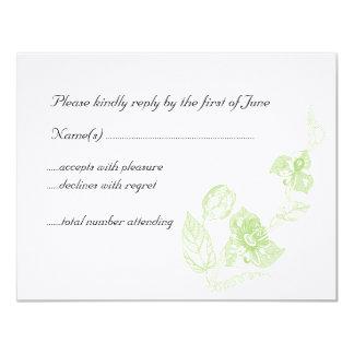 Passion flower 4.25x5.5 paper invitation card