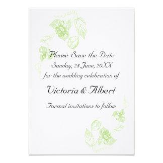 Passion flower 5x7 paper invitation card