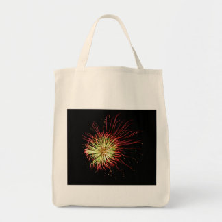 Passion Flower Abstract Fireworks Grocery Bag
