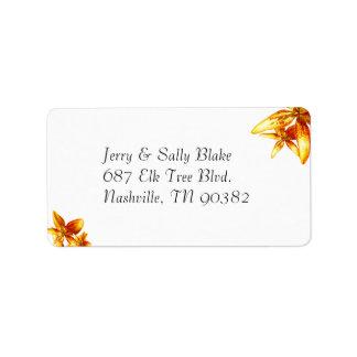 Passion Flower Address Label