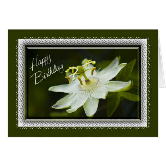 Passion Flower Birthday Card