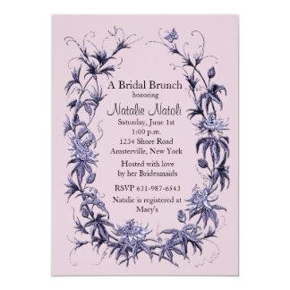 Passion Flower Bridal Shower Invitation