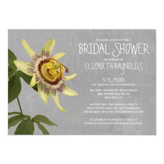 "Passion Flower Bridal Shower Invitations 5"" X 7"" Invitation Card"