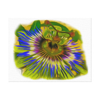 Passion Flower Gallery Wrapped Canvas