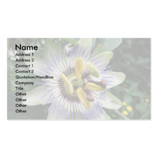 Passion Flower Custom Business Card