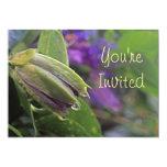"Passion Flower Invitation 5"" X 7"" Invitation Card"