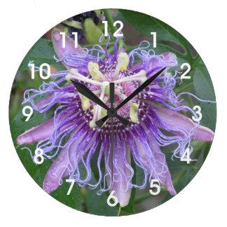 Passion Flower Large Clock