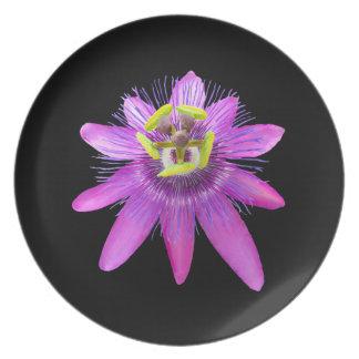 Passion Flower Melamine Plate