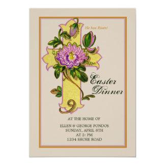 Passion Flower on Cross Easter  Invitation