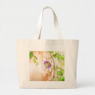 Passion Flower Vine Canvas Bag