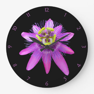 Passion Flower Wall Clocks