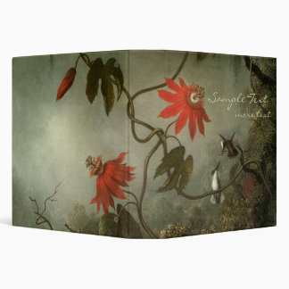 Passion Flowers and Hummingbirds Vinyl Binder