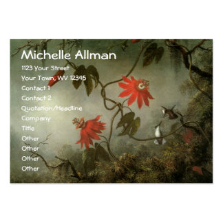 Passion Flowers and Hummingbirds Business Card Template