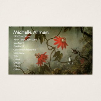 Passion Flowers and Hummingbirds Business Cards