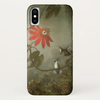 Passion Flowers and Hummingbirds by Martin J Heade iPhone X Case