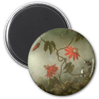 Passion Flowers and Hummingbirds by Martin J Heade Magnet
