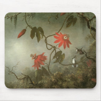 Passion Flowers and Hummingbirds by Martin J Heade Mouse Pad